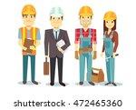 construction workers team... | Shutterstock .eps vector #472465360