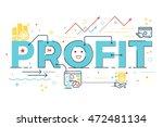 profit word lettering design...   Shutterstock .eps vector #472481134