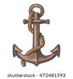 anchor isolated on white... | Shutterstock .eps vector #472481593