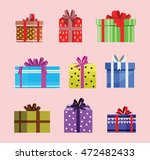 gift box birthday set present... | Shutterstock .eps vector #472482433