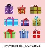 gift box birthday set present... | Shutterstock .eps vector #472482526