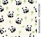 Vector Seamless Pattern Pandas...