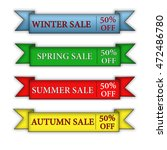 season sale on a white... | Shutterstock . vector #472486780