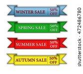 season sale on a white... | Shutterstock . vector #472486780