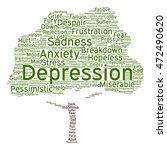 vector conceptual depression or ...   Shutterstock .eps vector #472490620