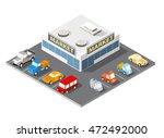large supermarket shopping 3d... | Shutterstock .eps vector #472492000