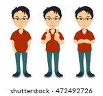 guy arms crossed | Shutterstock .eps vector #472492726