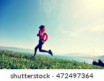 fitness young woman trail... | Shutterstock . vector #472497364
