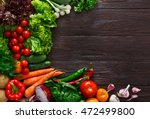 frame of fresh organic... | Shutterstock . vector #472499800