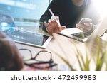 two colleague web designer... | Shutterstock . vector #472499983