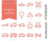 flat thin line icons set of... | Shutterstock .eps vector #472500349