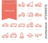flat thin line icons set of...   Shutterstock .eps vector #472500376
