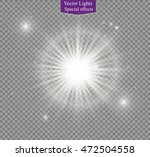 glow light effect. star burst... | Shutterstock .eps vector #472504558