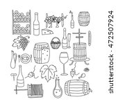 vector line doodle icon set....