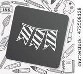 hanging doodle drawing | Shutterstock .eps vector #472508128