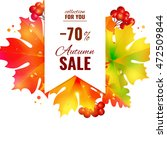 autumn sale lettering orange ... | Shutterstock .eps vector #472509844