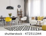 spacious dining and living room ... | Shutterstock . vector #472511344