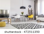 very spacious dining and living ... | Shutterstock . vector #472511350