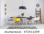 beautiful white dining room... | Shutterstock . vector #472511359
