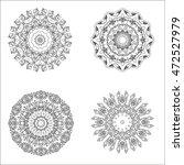 mandala set. ethnic indian... | Shutterstock .eps vector #472527979