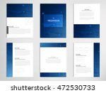 set templates for presentation... | Shutterstock .eps vector #472530733