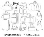 different types of bags  cases  ... | Shutterstock . vector #472532518