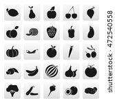 fruit symbols simple icon set... | Shutterstock .eps vector #472540558