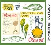 food sketchbook with... | Shutterstock .eps vector #472552870