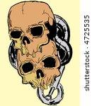 vector skulls | Shutterstock .eps vector #4725535