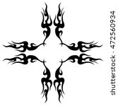 tattoo. stencil. pattern.... | Shutterstock .eps vector #472560934