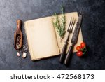 blank cookbook for your text ... | Shutterstock . vector #472568173