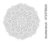round element for coloring book.... | Shutterstock .eps vector #472570024