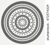 ethnic mandala. tribal hand... | Shutterstock .eps vector #472574329