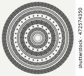 ethnic mandala. tribal hand... | Shutterstock .eps vector #472574350