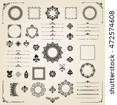 vintage set of classic elements.... | Shutterstock .eps vector #472574608