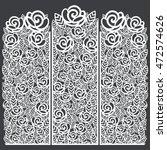 stencil folding screen floral... | Shutterstock .eps vector #472574626