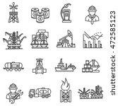 oil icons set. petroleum... | Shutterstock .eps vector #472585123