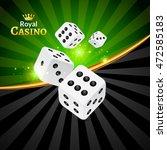 dice vector casino design... | Shutterstock .eps vector #472585183