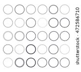 set of round and circular... | Shutterstock .eps vector #472586710