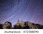 Star Trails And Meteor Shower...