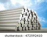 3d Rendering Heap Of Metal Pipes