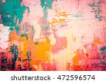 hand drawn oil painting.... | Shutterstock . vector #472596574