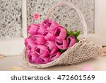 Spring Decoration  Tulips In A...