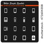 phones simply symbols for web... | Shutterstock .eps vector #472604308