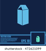 milk vector icon | Shutterstock .eps vector #472621099