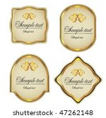 gold framed labels and stickers | Shutterstock .eps vector #47262148