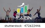 business development growth bar ... | Shutterstock . vector #472622446