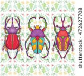 vector illustration of insects... | Shutterstock .eps vector #472627708
