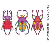 vector illustration of insects... | Shutterstock .eps vector #472627768