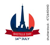 bastille day. 14 july. paris.... | Shutterstock .eps vector #472640440